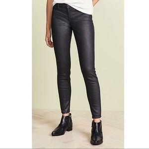 BLANK NYC The Mercer Black Coated Skinny Jeans, 27